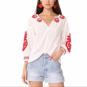 Madewell Embroidered Blanca Tank Top Blouse